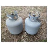 2 Propane Tanks: Some Propane Left