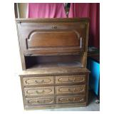 Chest of Drawers and Matching Stackable Liquor Cabinet (German)