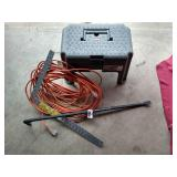 Step Stool, Extension Cords & Tools