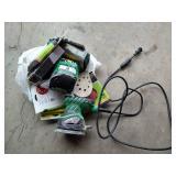 Hitachi Electric Sander & Bag of Sanding Materials