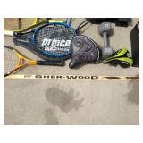 Sports Stuff: Weights, Tennis, Hockey & More