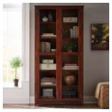 Oxford Chestnut Glass Door Bookcase the retail price in Home Depot is $661.25