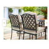 Laurel Oaks 6 Piece Brown Steel Outdoor (only chairs without table and (pillow's cases)