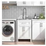 """OVE Decors Paloma 22"""" Utility Sink with Faucet & Cabinet the retail price in Costco is $399.99"""