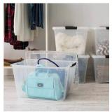 53 Qt. Stack and Pull Box in Clear (5-Pack) the retail price in Home Depot is $51.49