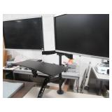 Standing computer, keyboard, Dual Monitor Stand,  Dual 22 in LCD Monitors included