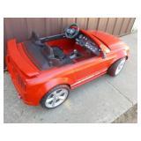 Power Wheels car. 12 volt. Forward works but not reverse. As shown.