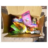 Large box of candy. Some may be out of date. As shown.