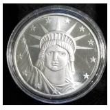 1 TROY OZ. .999 FINE SILVER STATUE OF LIBERTY IN AIRTITE