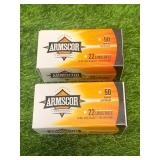 100 Rounds .22 Hollow Point Ammo Ammunition
