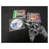 PLAYSTATION GAMES AND CONTROLLER