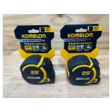 KOMELON Lot of 2-  Contractor TS Tape Measures 25