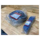 MILWAUKEE Lot of 2-  Nylon Slings (4 IN X 15 FT and 2 IN X 8 FT)