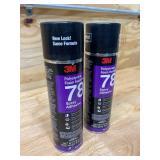 3M Lot of 2-  Polystyrene Foam Insulation 78 Spray Adhesive, INVERTED 17.9 fl oz Aerosol...