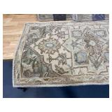 ALLEN + ROTH Lot of 3- Brookford 2 x 4 Ivory Soft Green Medallion Oriental Handcrafted Throw Rugs