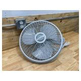 LASKO 16 in. 3-Speed Oscillating Wall Mount Fan with Remote Control