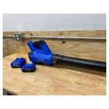 KOBALT 24-Volt Max 100-MPH Brushless Handheld Cordless Electric Leaf Blower 4 Ah(Battery & Charger Included)