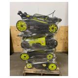 RYOBI Lot of 8-  40v Lawn Mowers (mowers only)