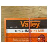 VALLEY # GTWM-08R 8 Foot Steel Windmill, Red with Black Accents