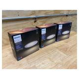 """PHILIPS Lot of 3- Hue White Ambiance LED Smart Retrofit 5/6"""" Recessed Downlights - White"""