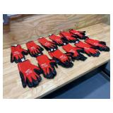 MILWAUKEE Lot of 12 Pairs of-  X-Large Red Nitrile Level 3 Cut Resistant Dipped Work Gloves