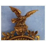 Vintage Gold Eagle Figurine Mirror
