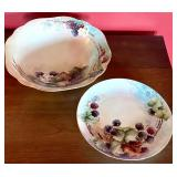 Two Vintage Hand Painted Dishes