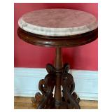 Antique Petite Marble Top Table