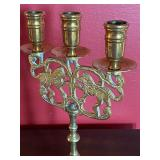 Vintage Brass Candleholders and Wick Trimmer