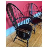 Two Vintage Windsor Style Armchairs