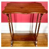 Small Accent Table w/ Spindle Legs