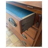 Vintage Drop Down Secretary Desk w/ Drawers