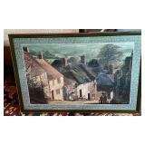 Framed Photograph of Cottages of Dorset England