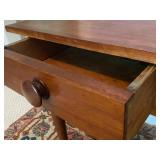 Primitive Single Drawer Accent Table