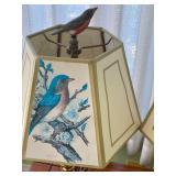 Pair of Decorative Bird Motif Table Lamps