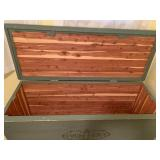 Lovely Large Painted Deep Cedar Chest w/ Bottom Drawer Storage