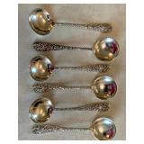 Six Stieff Sterling Rounded Spoons