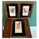 Set of Three Bird Prints by Alan Arthur Singer
