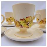 1930s Carltonware Teacups and Saucers-Service for 6