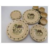 1950s Homestead Provincial Poppytrail Vernon by Metlox Dining Set-Service For 4