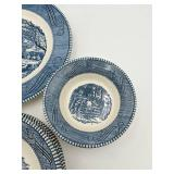 Currier and Ives Dish Set