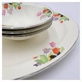 Set-Gravy Boat, Bowls , Platter
