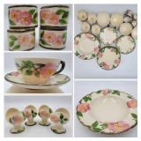 1950s Franciscan Desert Rose Dinnerware Set ($350 Value)