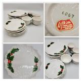 Lefton Holly Berry Holiday Dining Set- Service For 4 ($300 Value)