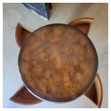 Vintage 4 Drawer Drum Table