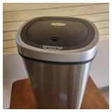 Touch Free Stainless Steel Garbage Can with Lid