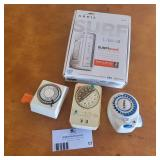 Arris Surfboard Cable Modem and Three Appliance Timers