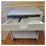 Heavy Duty Plastic Taboret Cabinet with Lock and Keys
