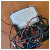 Vintage Triplett 630 APU Volt Ohmmeter W/Test Probes and Archer FS/SWR Meter, 18 Ft CB Antenae
