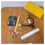 Vintage Stethoscope, Vintage Slide Ruler and More!